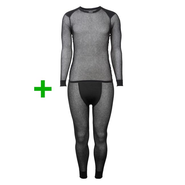 Set Termoprádlo Brynje Wool Thermo Shirt w inlay + Termoprádlo Brynje Super  Thermo Longs - black 338367a6cd