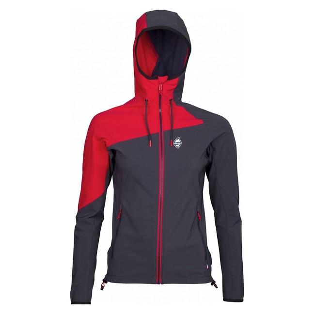 Softshellová bunda High Point Drift 2.0 Lady Hoody Jacket - carbon/red - S