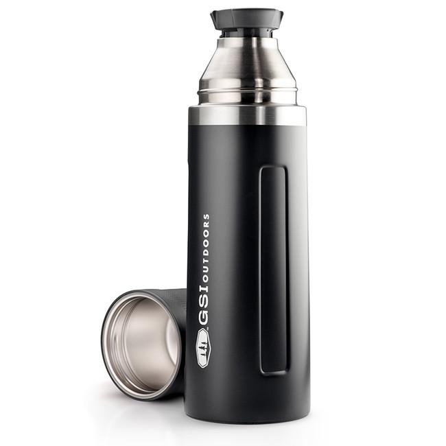 Termoska GSI Outdoors Glacier Stainless Vacuum Bottle 1l - Black