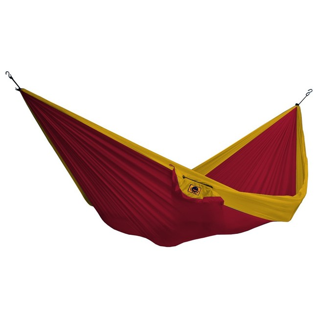 Ticket To The Moon Single Hammock - burgundy/dark yellow