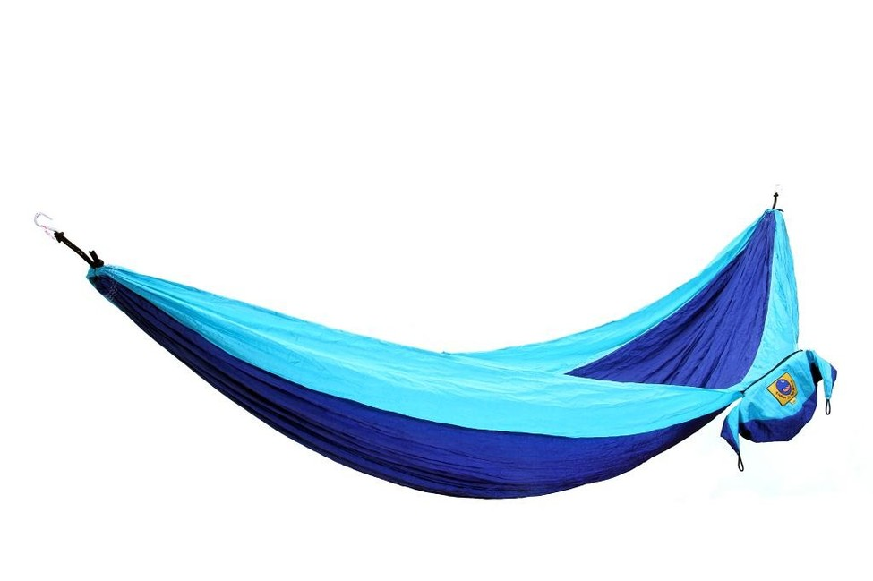 Ticket to the moon single hammock - royal blue/ turquoise