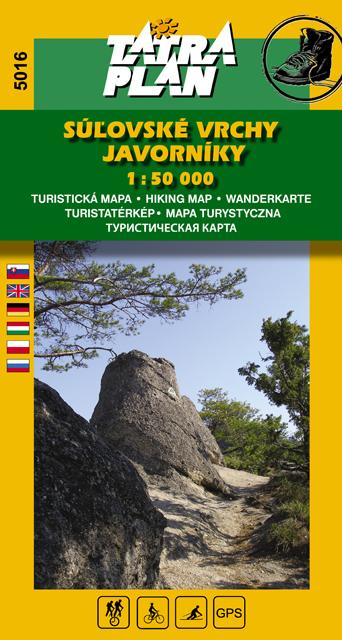 TM 5016 Súľovské vrchy, Javorníky 1:50 000