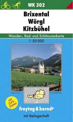 Turistická mapa 1:50T - Brixental, Wörgl, Kitzbühel