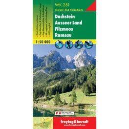 Turistická mapa 1:50T - Dachstein, Ausser Land, Filzmoos, Ramsau