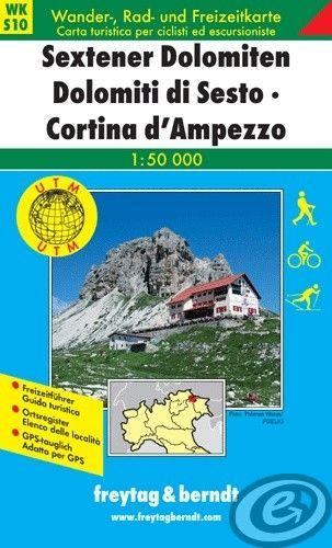 Turistická mapa 1:50T - Sextener Dolomiten, Cortina d Ampezzo