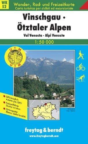 Turistická mapa 1:50T - Vinschgau