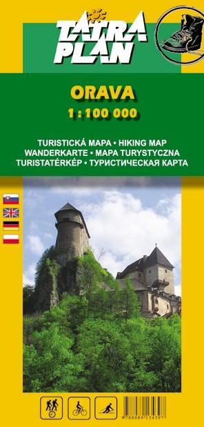 Turistická mapa Tatraplan Orava 1:100000