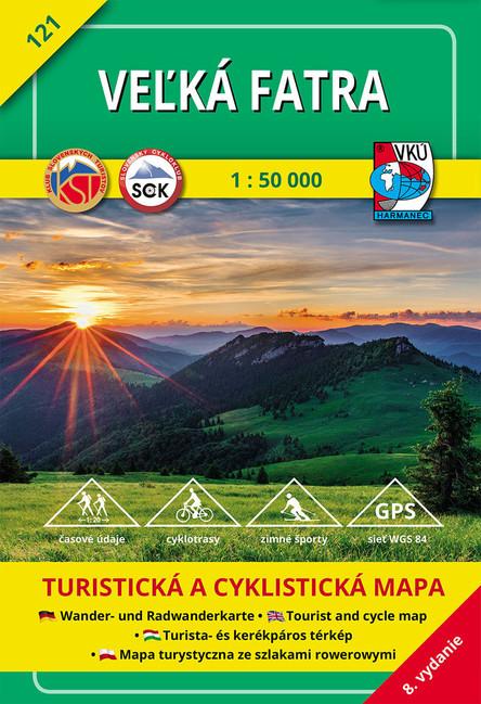 Turistická mapa Veľká Fatra 1:50 000 - 8 vydanie