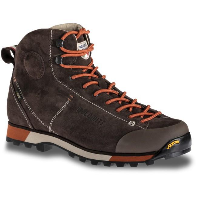 Turistická obuv Dolomite Cinquantaquattro Hike GTX - dark brown/red - 8'5 / 42'5