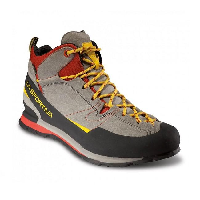 Turistická obuv La Sportiva Boulder X Mid GTX - grey/red - 6 / 39