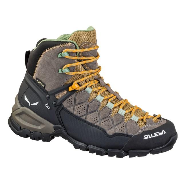 Turistická obuv Salewa WS Alp Trainer Mid GT - brown walnut butterscoth 71300d733a2