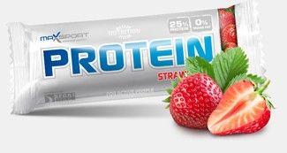 Tyčinka MaxSport Protein - Jahoda