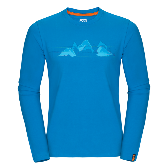 Tričko Zajo Bormio T-shirt LS - blue jewel mountains